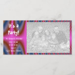 """Pink Tie Dye Party Invitation Photo Card<br><div class=""""desc"""">Customize this groovy Pink Tie Dye All Occasion Party Invitation with your own photograph and party details. Perfect for all parties including a girl&#39;s birthday party or graduation party. This custom all purpose general party invite photocard features a digitally created pink psychedelic tie dye fractal art design.</div>"""
