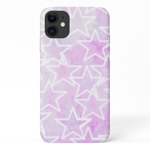 Pink Tie Dye Stars iPhone Case