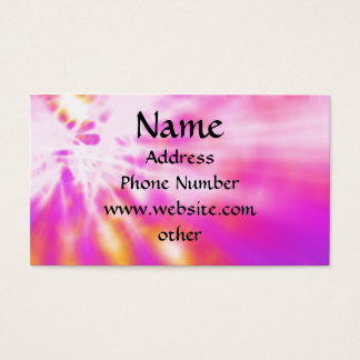 Pink Tie Dyed Business Cards