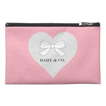 McTiffany Tiffany Aqua Pink Tiffany Girl Heart Travel Accessory Bag