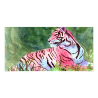 Pink Tiger aceo Photo Card
