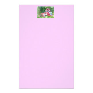 Pink Tiger aceo Stationary Stationery
