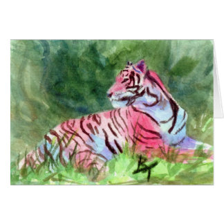 Pink Tiger Blank Card