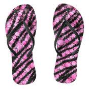 Pink Tiger Bling Flip Flops