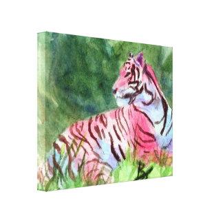 Pink Tiger Canvas Print