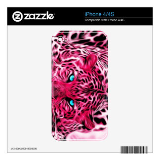 Pink Tiger Decals For iPhone 4S