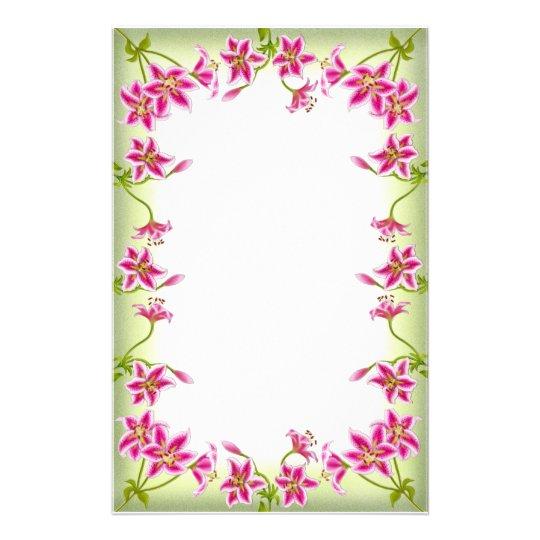 Pink Tiger Lily Garden Stationery