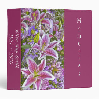 Pink Tiger Lily Photo Album Binder