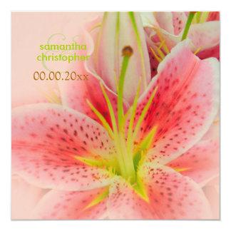 Pink tiger lily/wedding Invitations