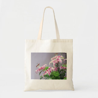 Pink Tiger Lilys Tote Bag