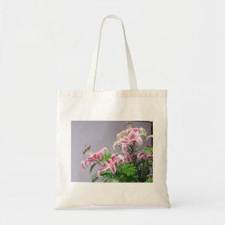 Pink Tiger Lilys Tote Bag
