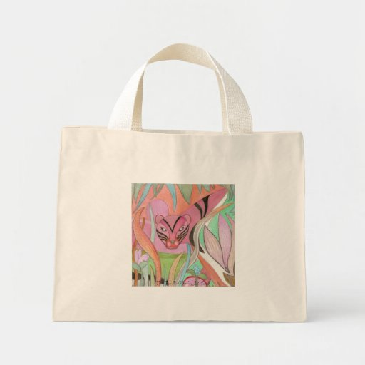 Pink Tiger Pink Moon tote bag