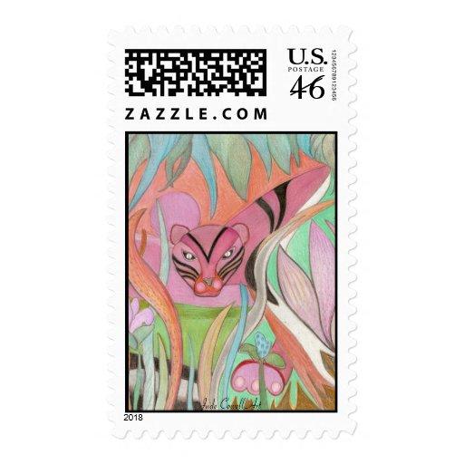 Pink Tiger postage stamps