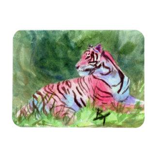Pink Tiger Vinyl Magnets