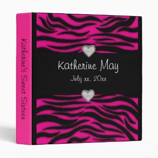 Pink Tiger Print Sweet Sixteen Photo Album Binder
