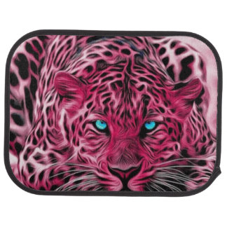 Pink Tiger Ready To Pounce Art Car Mat