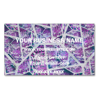 Pink Tiger Repeat Collage Magnetic Business Card