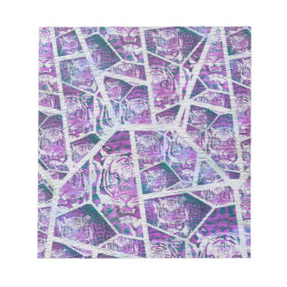 Pink Tiger Repeat Collage Note Pad