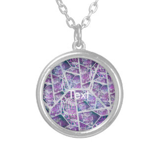 Pink Tiger Repeat Collage Silver Plated Necklace