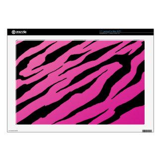 """Pink Tiger Stripe Laptop Vinyl Skins 17"""" Laptop Skin"""