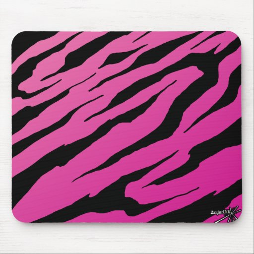 Pink Tiger Stripe Mousepad