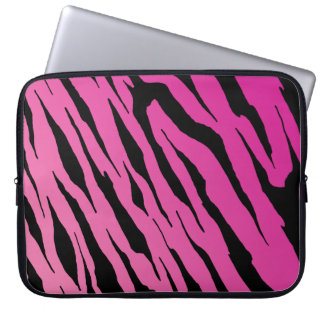 Pink Tiger Stripe Neoprene Laptop Sleeve