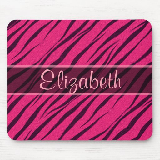 Pink Tiger Stripes Skin Pattern Personalize Mouse Pads