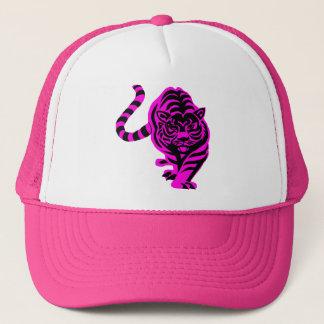 Pink tiger trucker hat