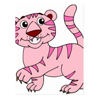 Pink Tiger Wild Animal Yet Super Cute Postcard