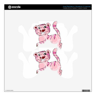 Pink Tiger Wild Animal Yet Super Cute PS3 Controller Skin