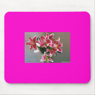 pink tigerlily mouse pad
