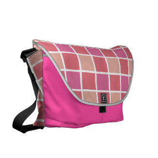 Pink Tile Pattern Messenger Bag