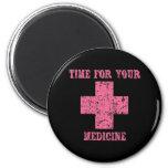 Pink Time for your Medicine Fridge Magnet