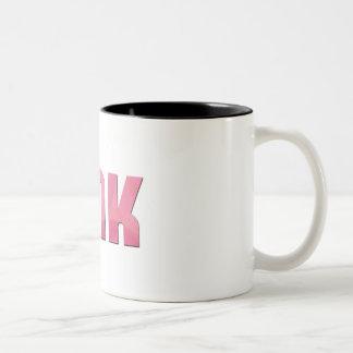 Pink Tink Mug - Swirls Pattern