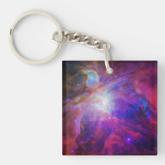 Pink Tinted Orion Nebula Keychain