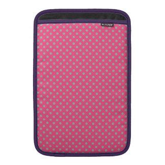 Pink tiny gray polka dots MacBook air sleeve