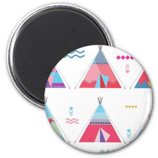 pink tipi magnet