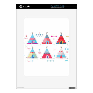 pink tipi skin for iPad