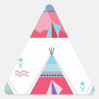 pink tipi triangle sticker