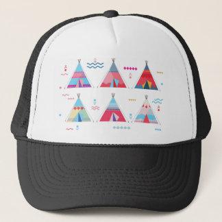 pink tipi trucker hat