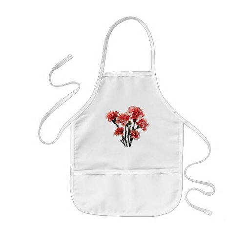 Pink-Tipped Carnations Aprons