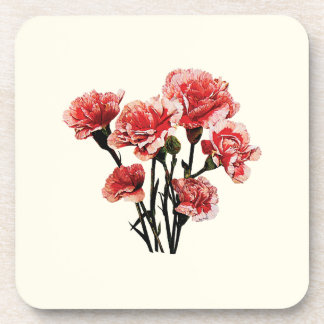 Pink-Tipped Carnations Coaster