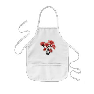 Pink-Tipped Carnations Kids' Apron