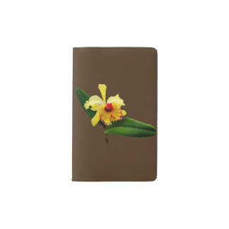 Pink Tipped Yellow Orchid Pocket Moleskine Notebook