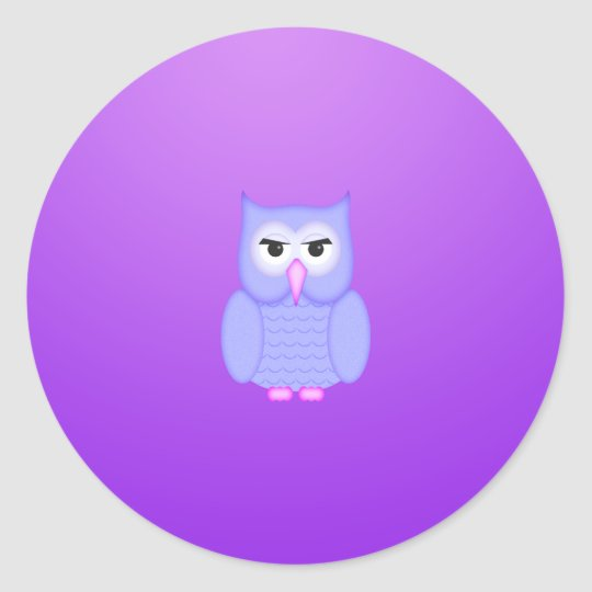 Pink to Mauve Owl Sticker
