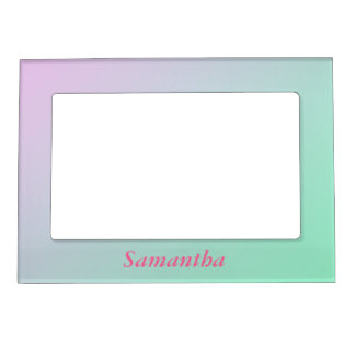 pink to mint green customizable magnetic picture frame - Mint Picture Frames
