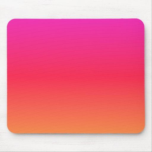 Pink to Orange Mouse Pad