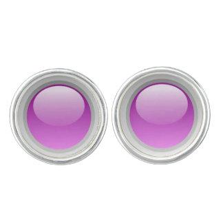 Pink to Purple Dome Cufflinks