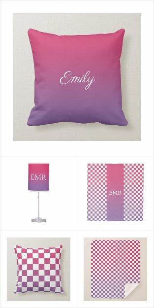 Pink to Purple Gradient Home Decor