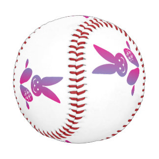 Pink to Purple Sitting Smiling Easter Bunny Baseball